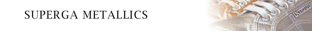 Superga Metallics Banner