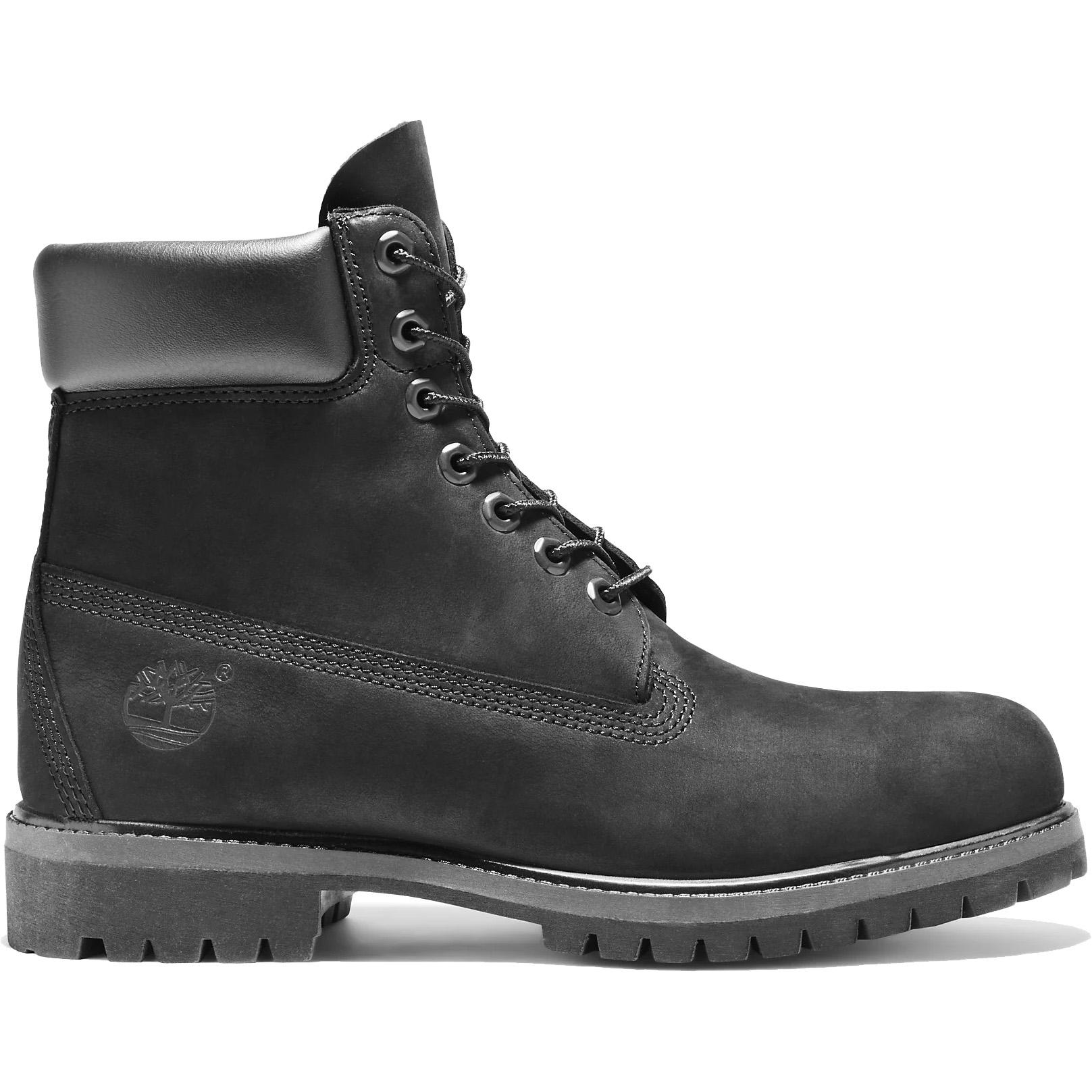 Timberland Mens 6 Inch Premium Black Classic Wide Fit Waterproof Boots - 10073 - Black