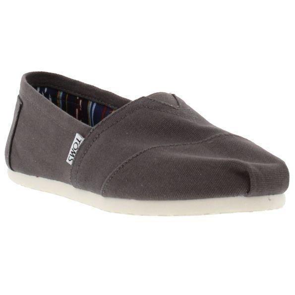 TOMS Mens Classic Alpargata Slip On Espadrille Shoes - Ash