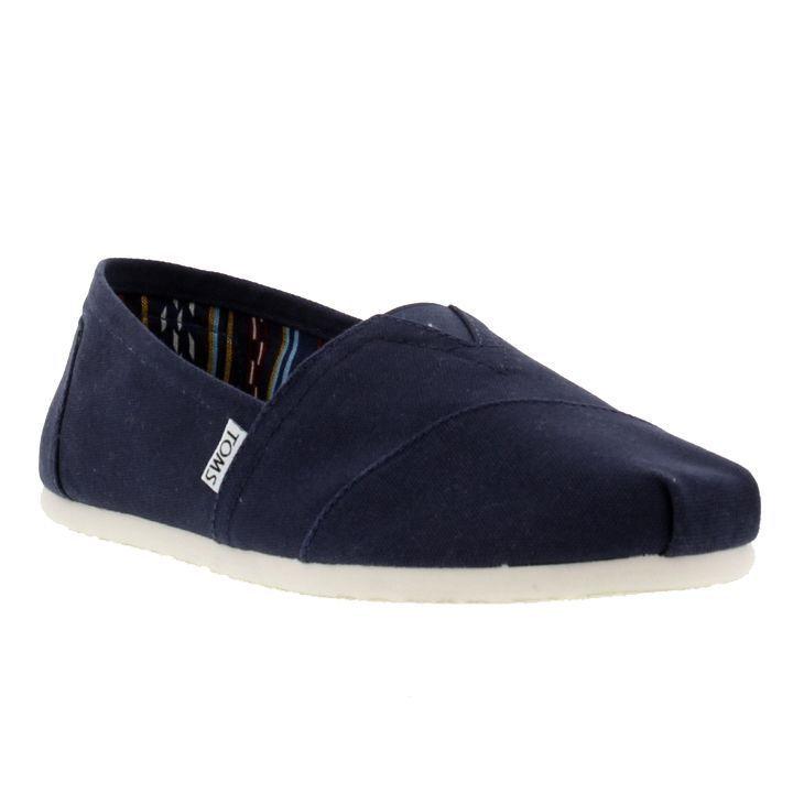 TOMS Mens Classic Alpargata Slip On Espadrille Shoes - Navy