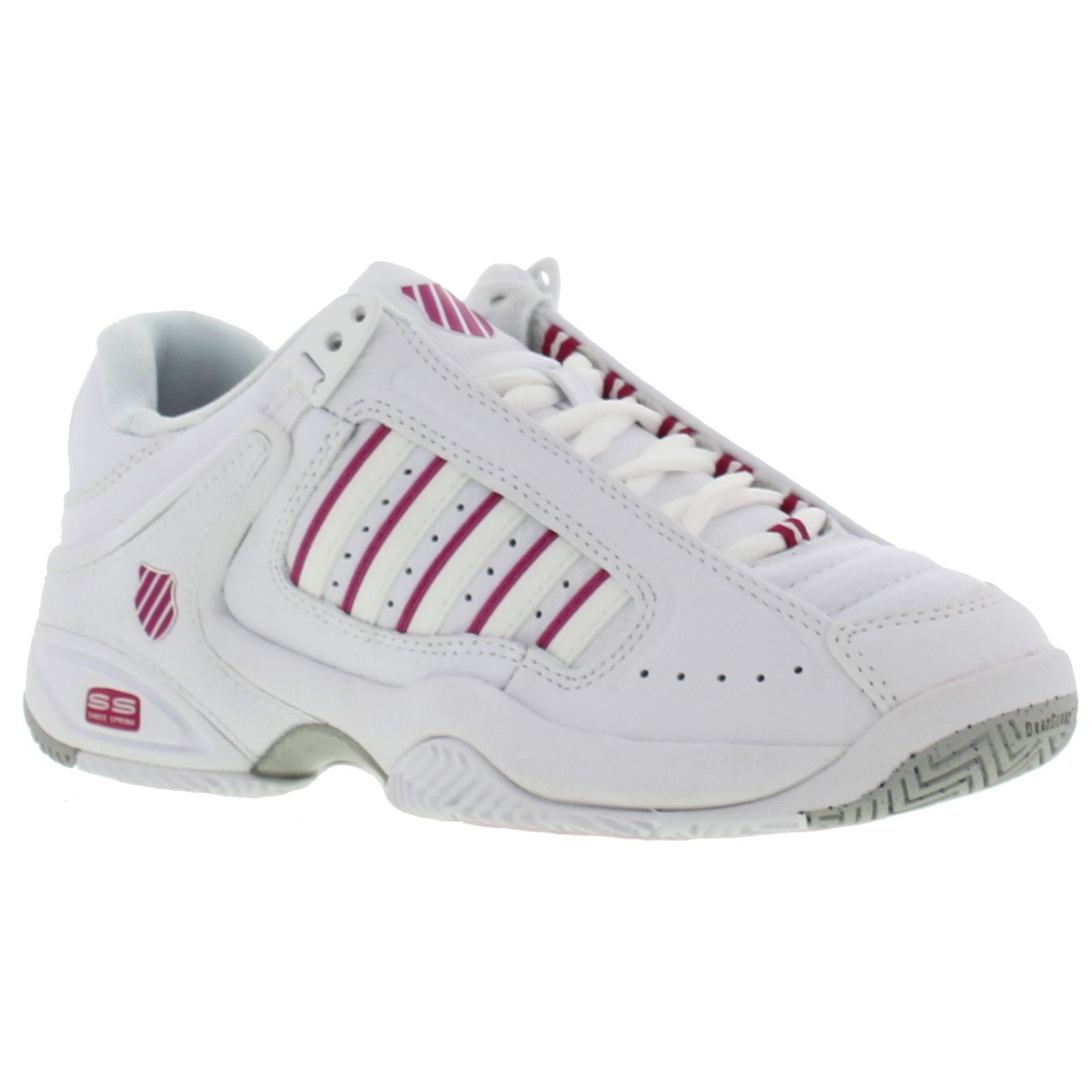 K Swiss Defier Womens Tennis Shoes - White Very Berry