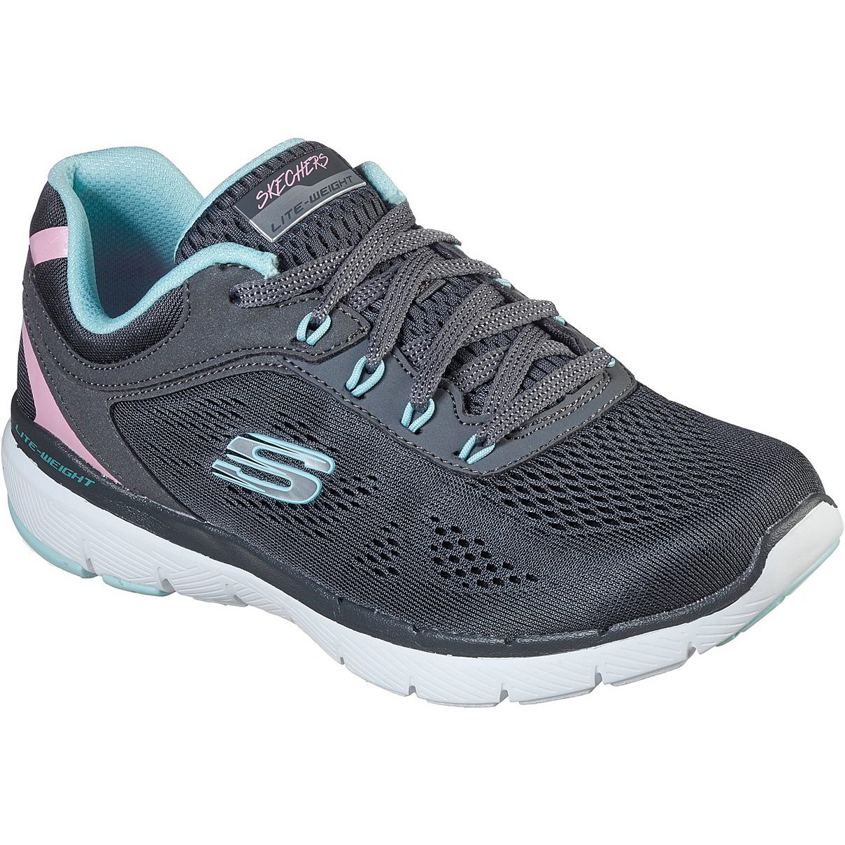 Skechers Womens Flex Appeal 3.0 Steady Move Trainers - Charcoal Turquoise