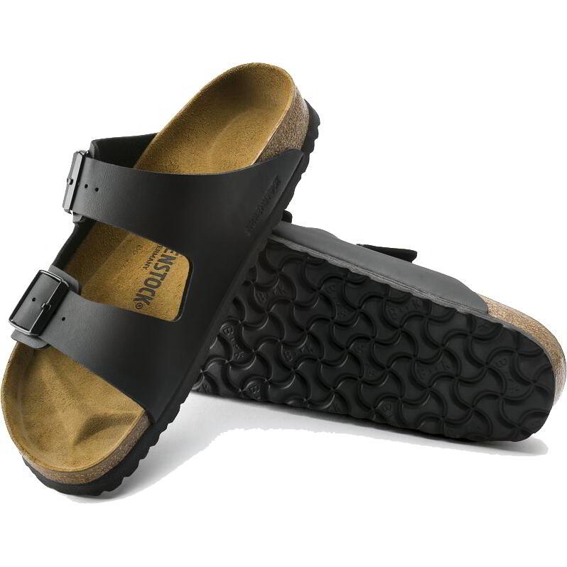 Birkenstock Mens Womens Arizona Birko Flor Sandals - Black