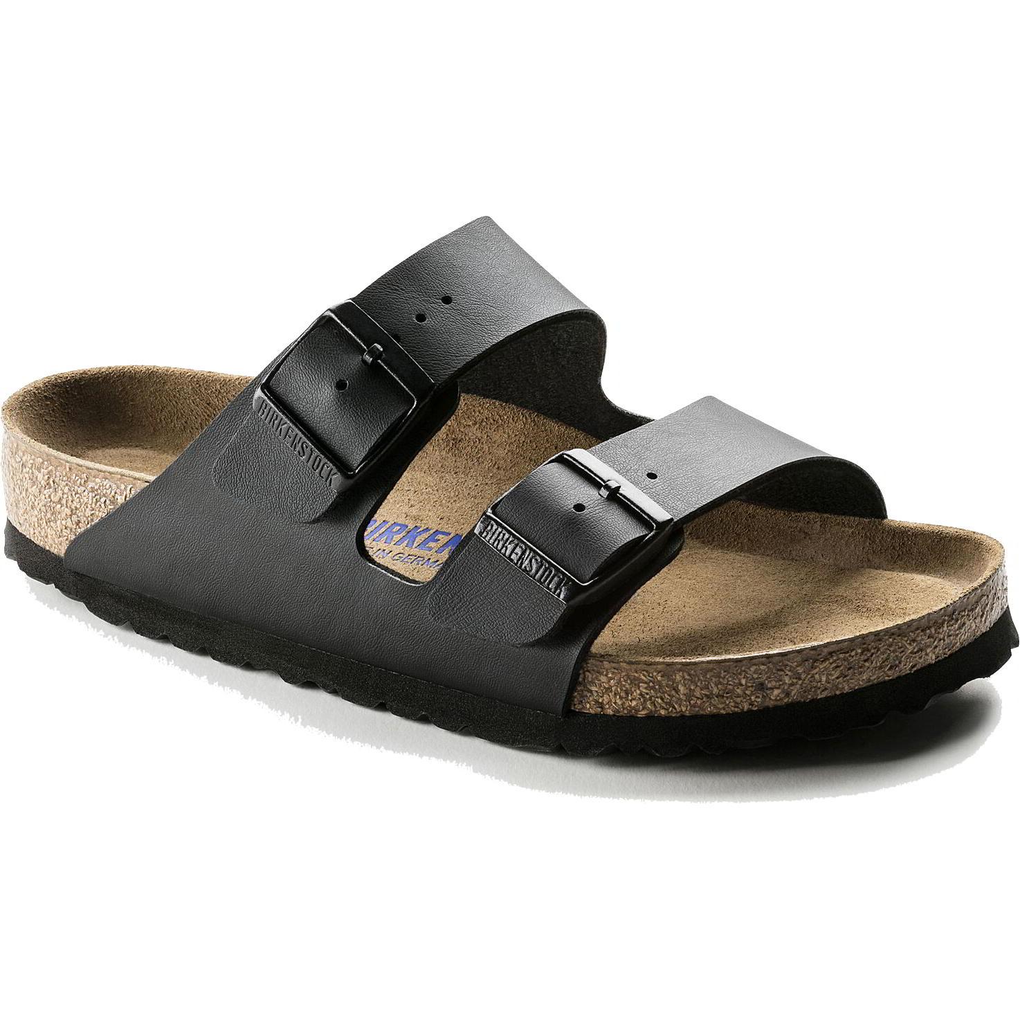 Birkenstock Mens Womens Arizona Soft Footbed BirkoFlor Sandals - Black