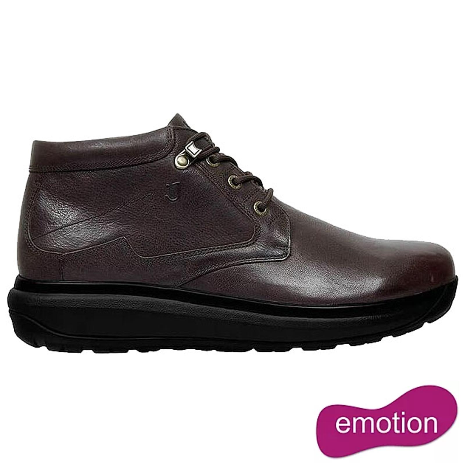 Joya Mens Liverpool Ankle Boots - Dark Brown