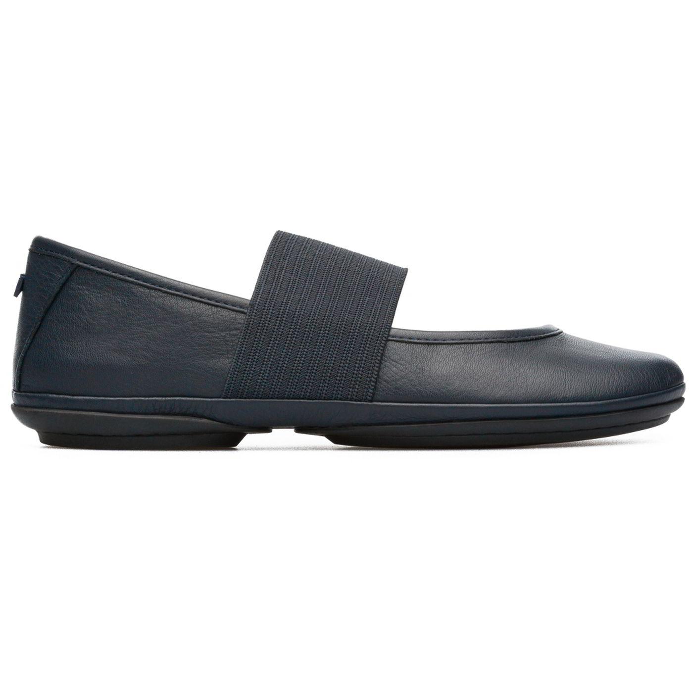 Camper Womens Right Nina 21595 Ballet Pumps Shoes - Dark Blue