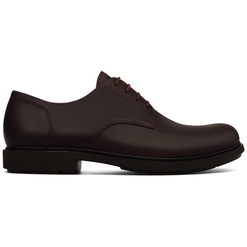 Camper Mens K100152 Neuman Leather Shoes - Dark Brown