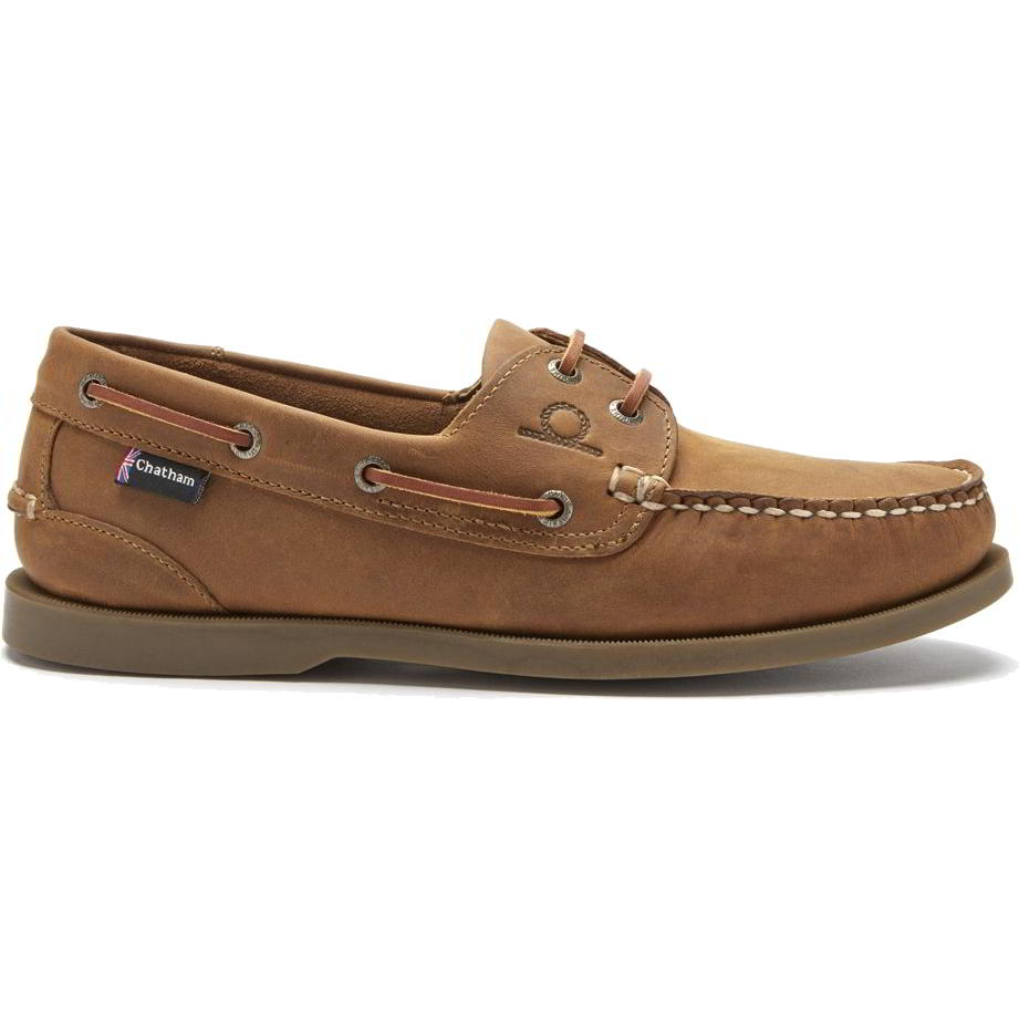 Chatham Mens Deck II G2 Leather Sailing Boat Deck Shoes - Walnut