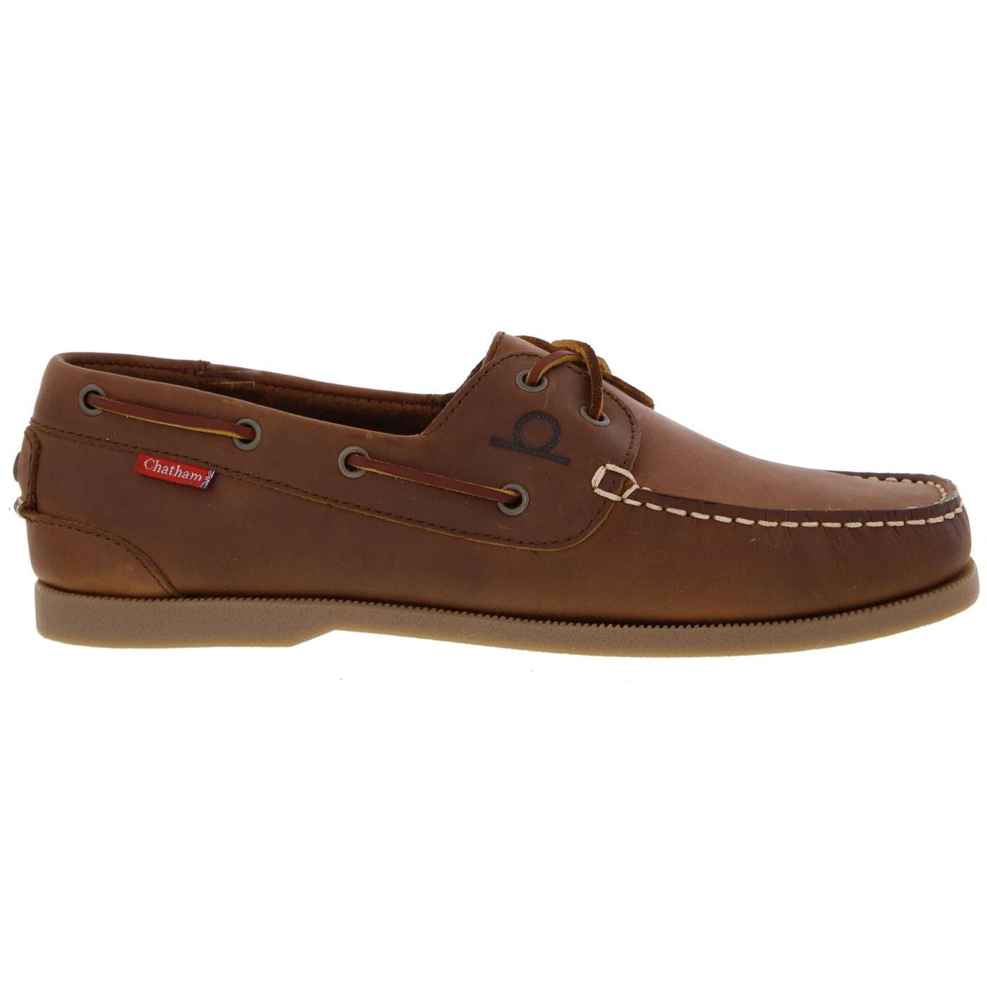 Chatham Mens Galley II  Sailing Boat Deck Shoes - Dark Tan
