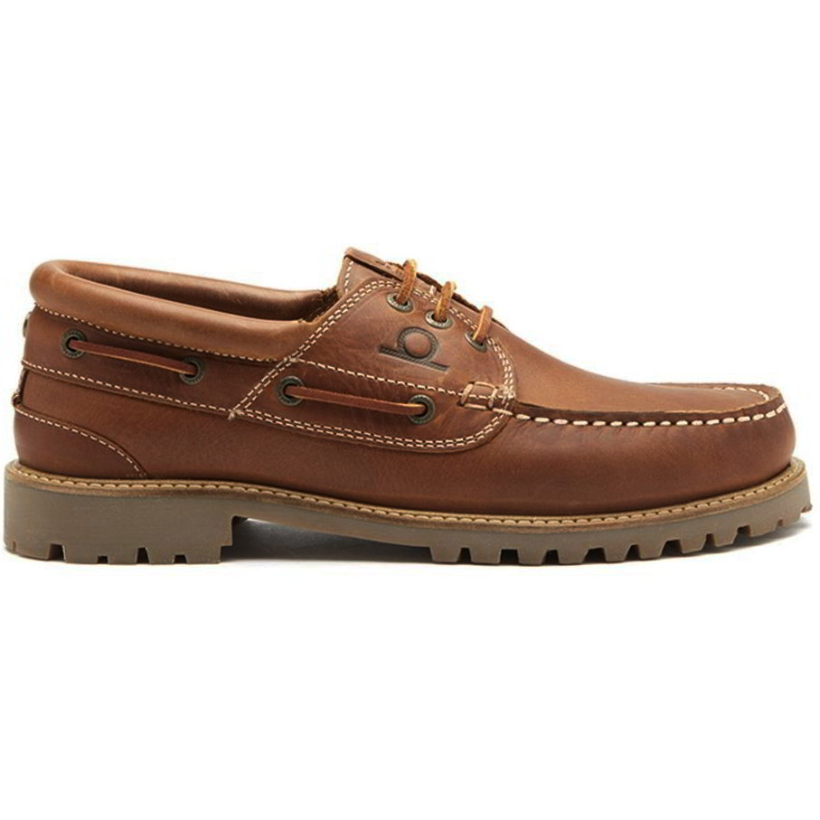 Chatham Mens Sperrin Leather Country Deck Boat Shoes - Dark Tan