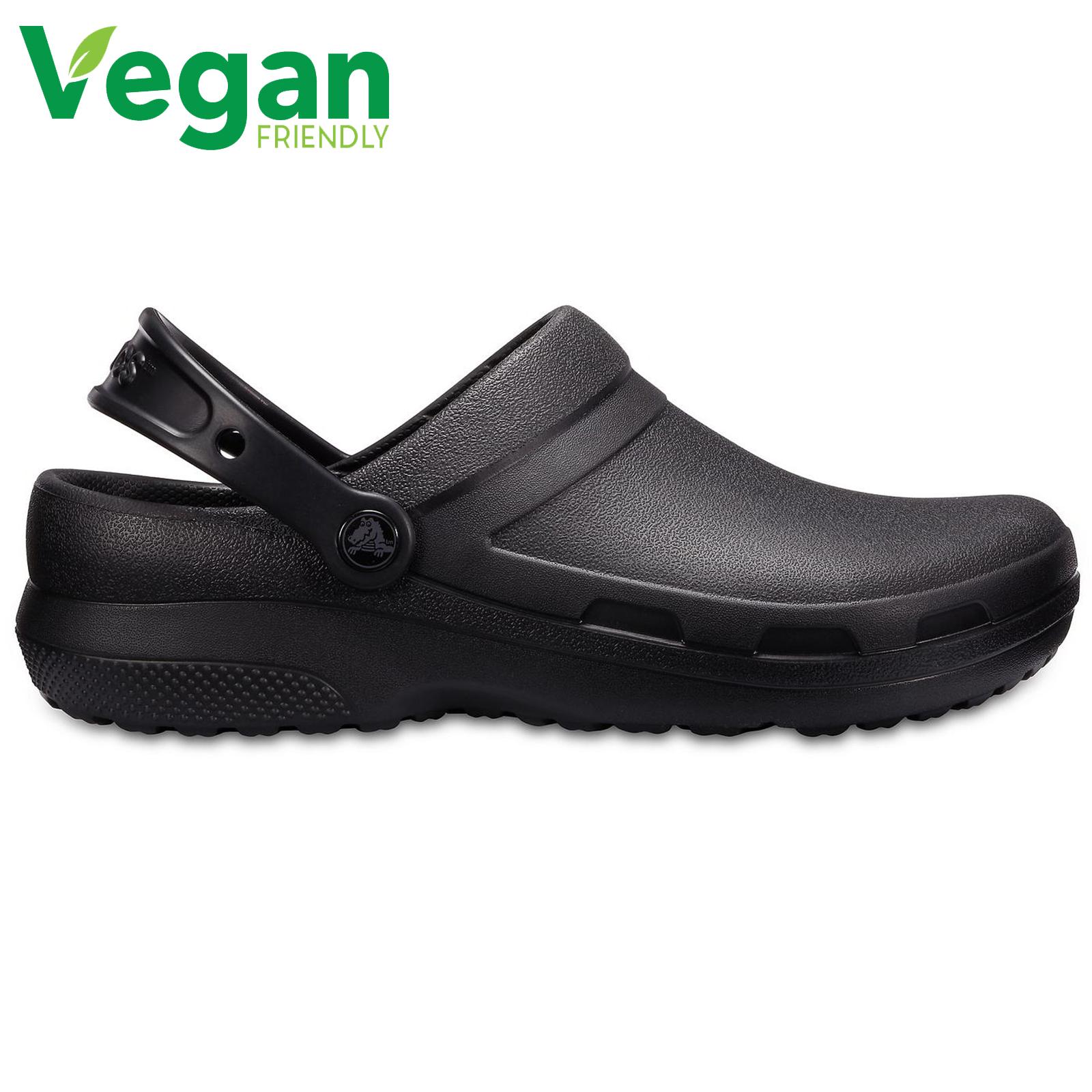 Crocs Mens Womens Specialist II Clogs Vegan Slip On Work Shoes - Black
