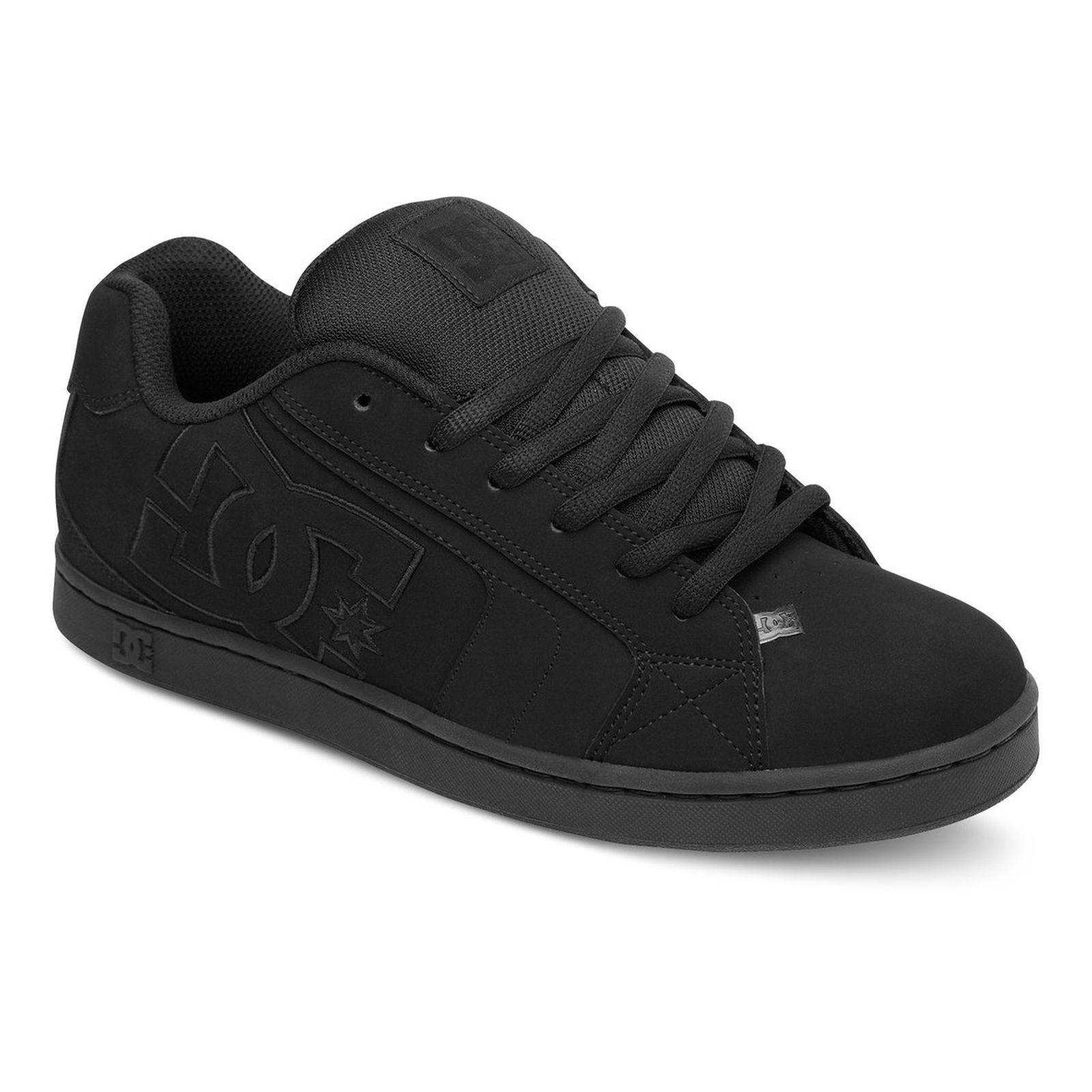 DC Mens Net Skate Shoes - Black Black Black