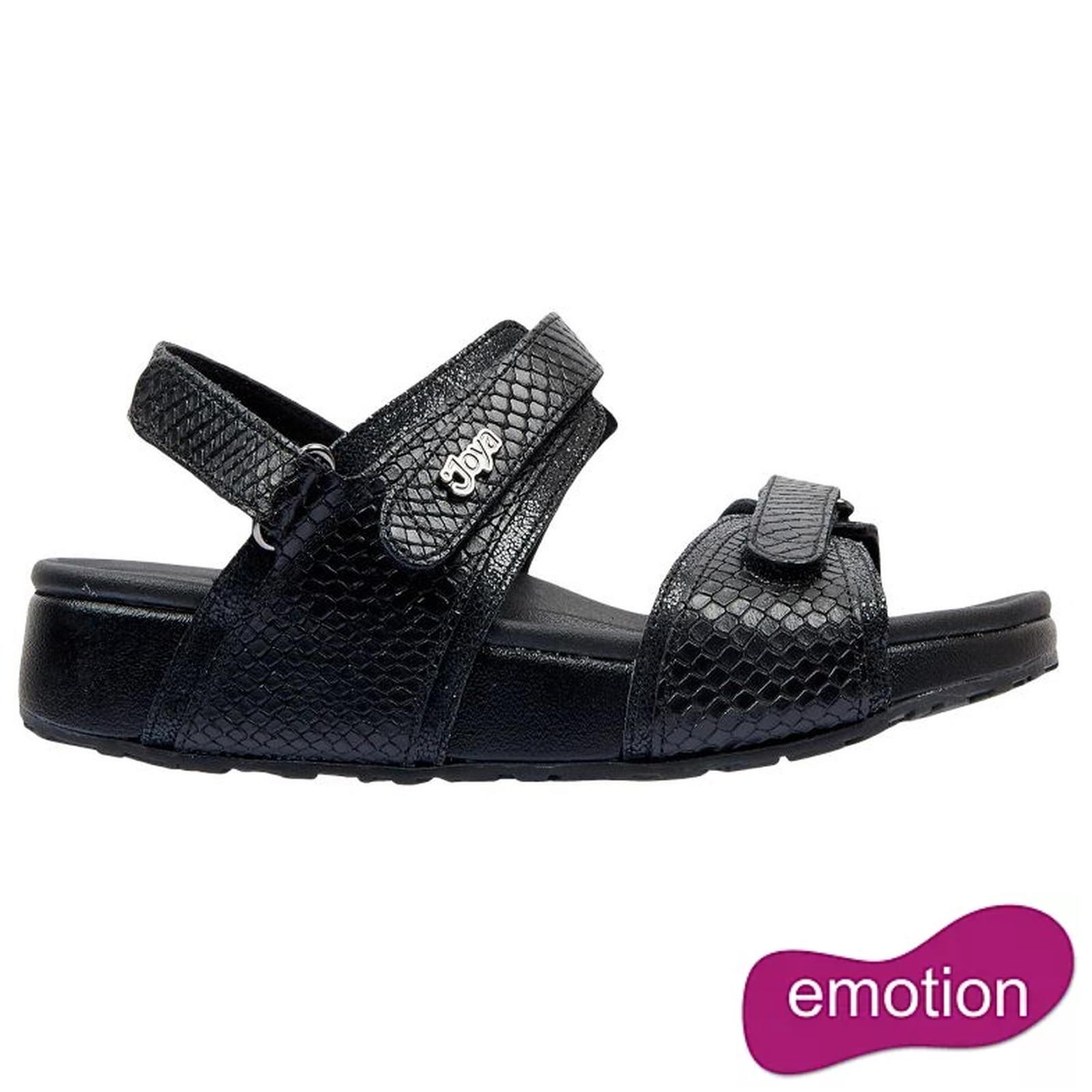Joya Womens Amalfi Sandals - Black Snake