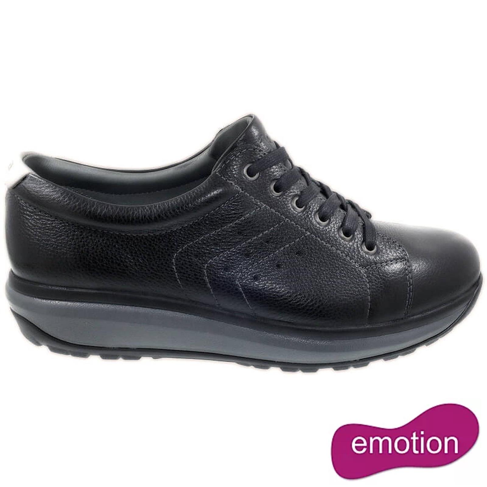 Joya Mens Caesar Leather Trainers - Black