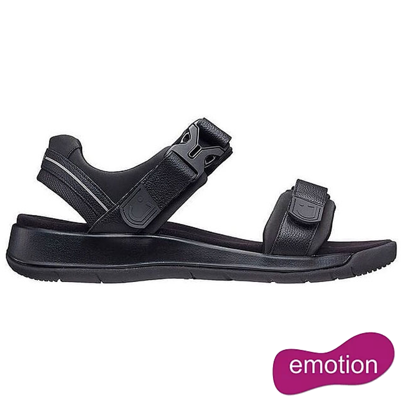 Joya Mens Capri III Adjustable Sandals - Black