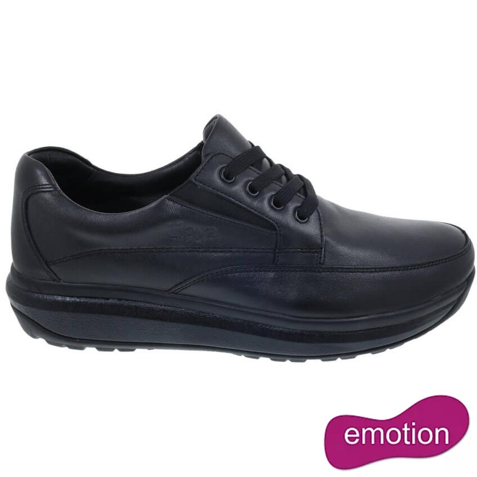 Joya Mens Cruiser II Leather Shoes - Black