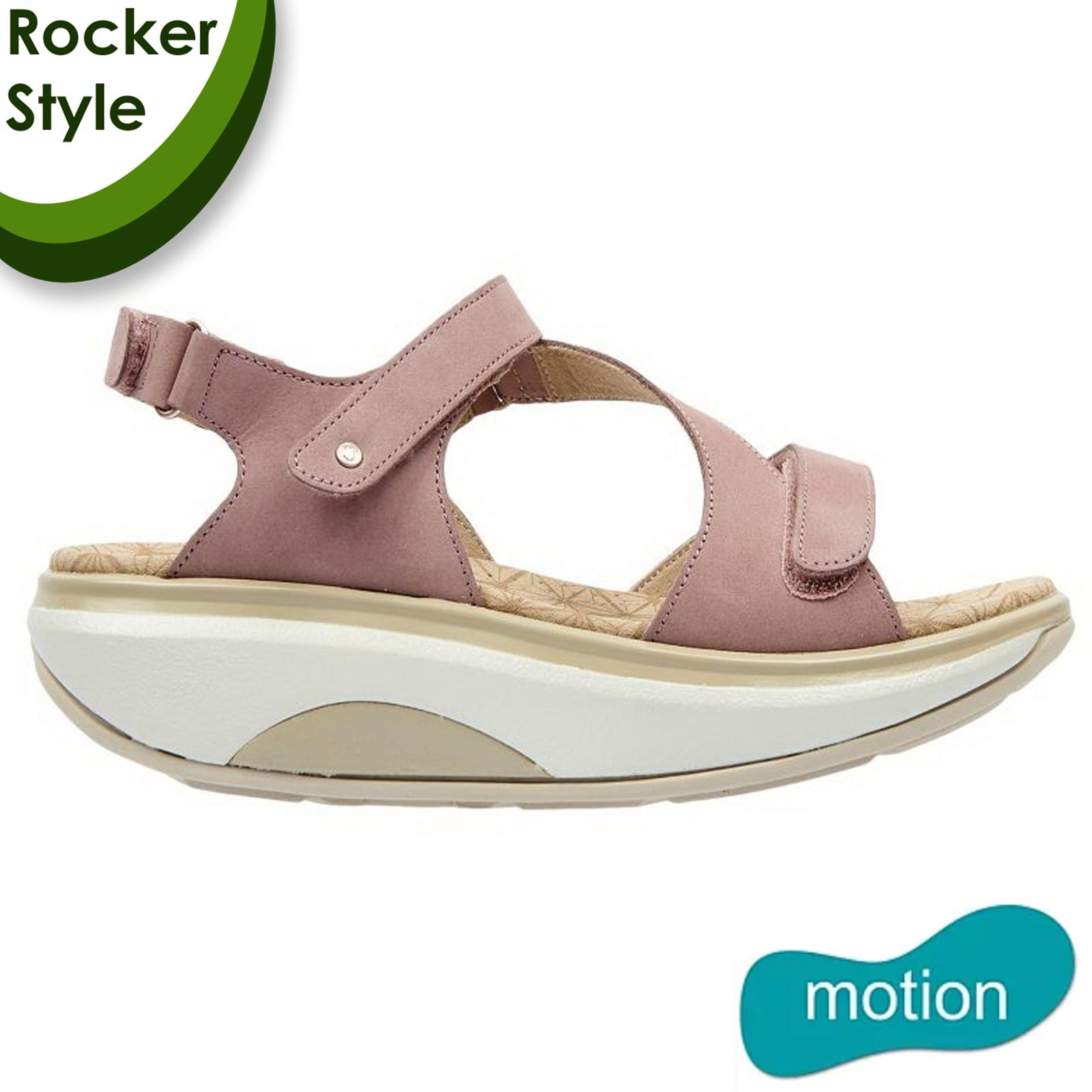 Joya Womens Jewel Leather Sandals - Pink