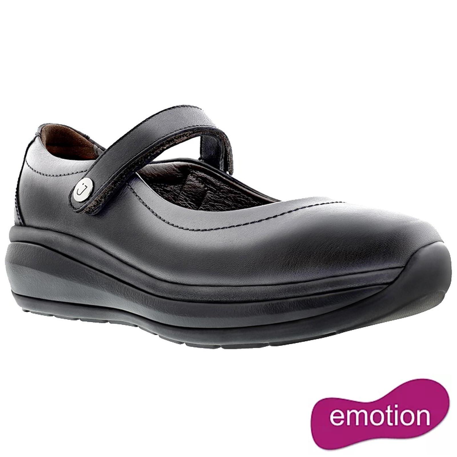 Joya Womens Mary Jane II Leather Shoes - Black