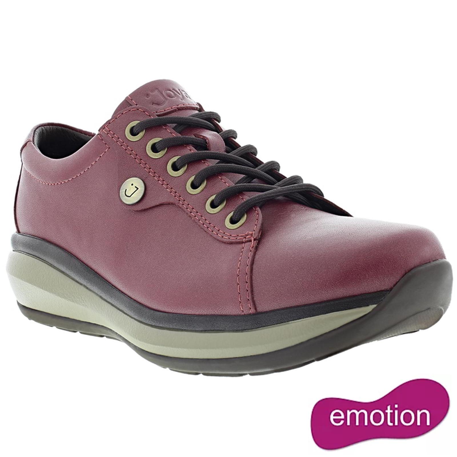 Joya Womens Paris II Leather Shoes - Burgandy