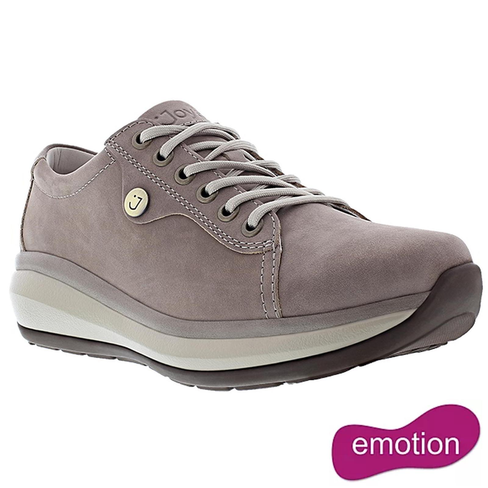 Joya Womens Paris II Leather Shoes - Grey