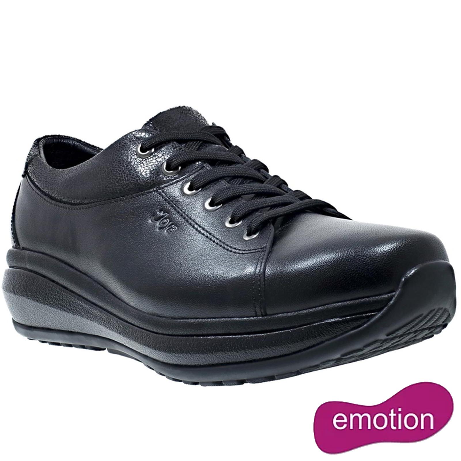 Joya Womens Athena Leather Shoes - Black