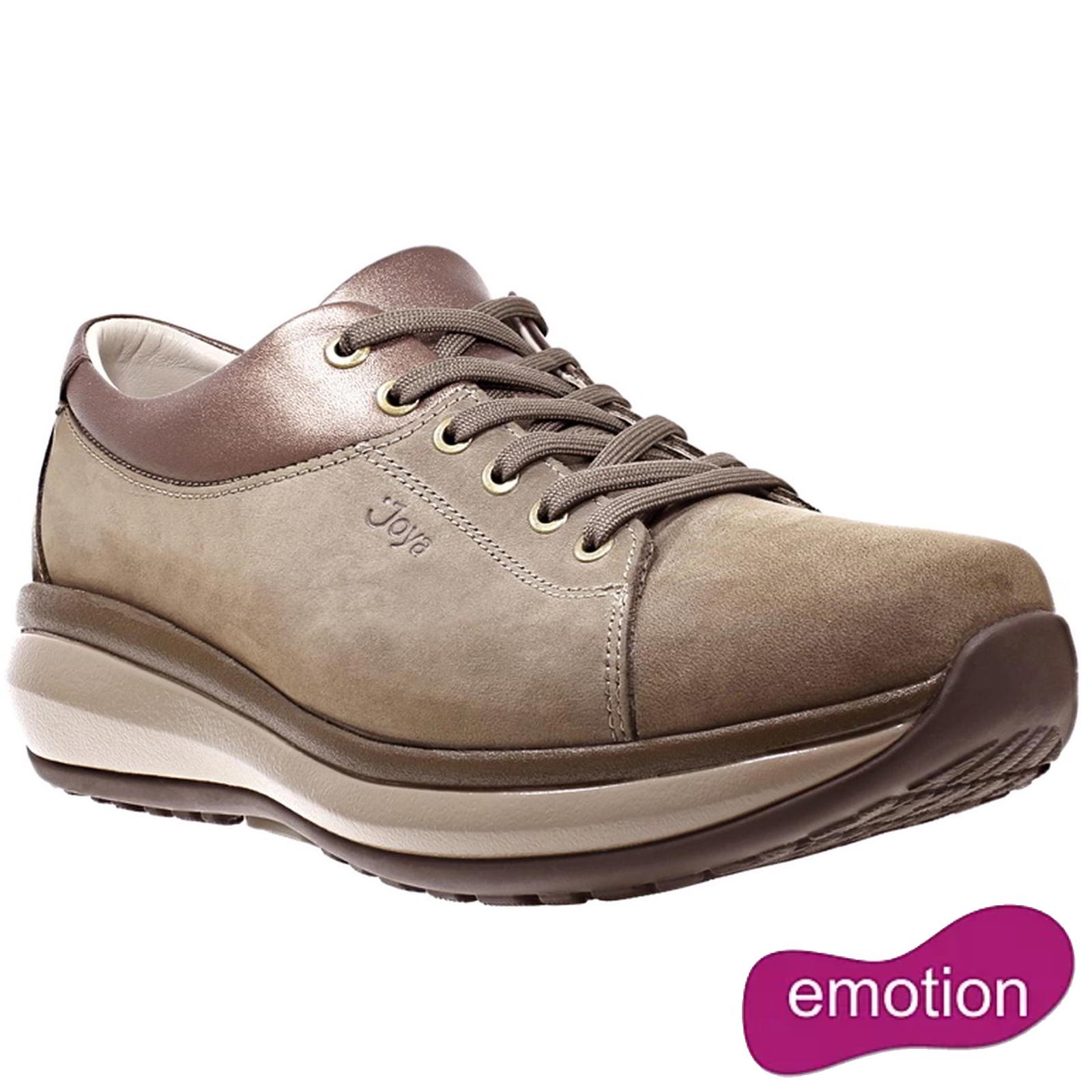 Joya Womens Athena Leather Shoes - Teak