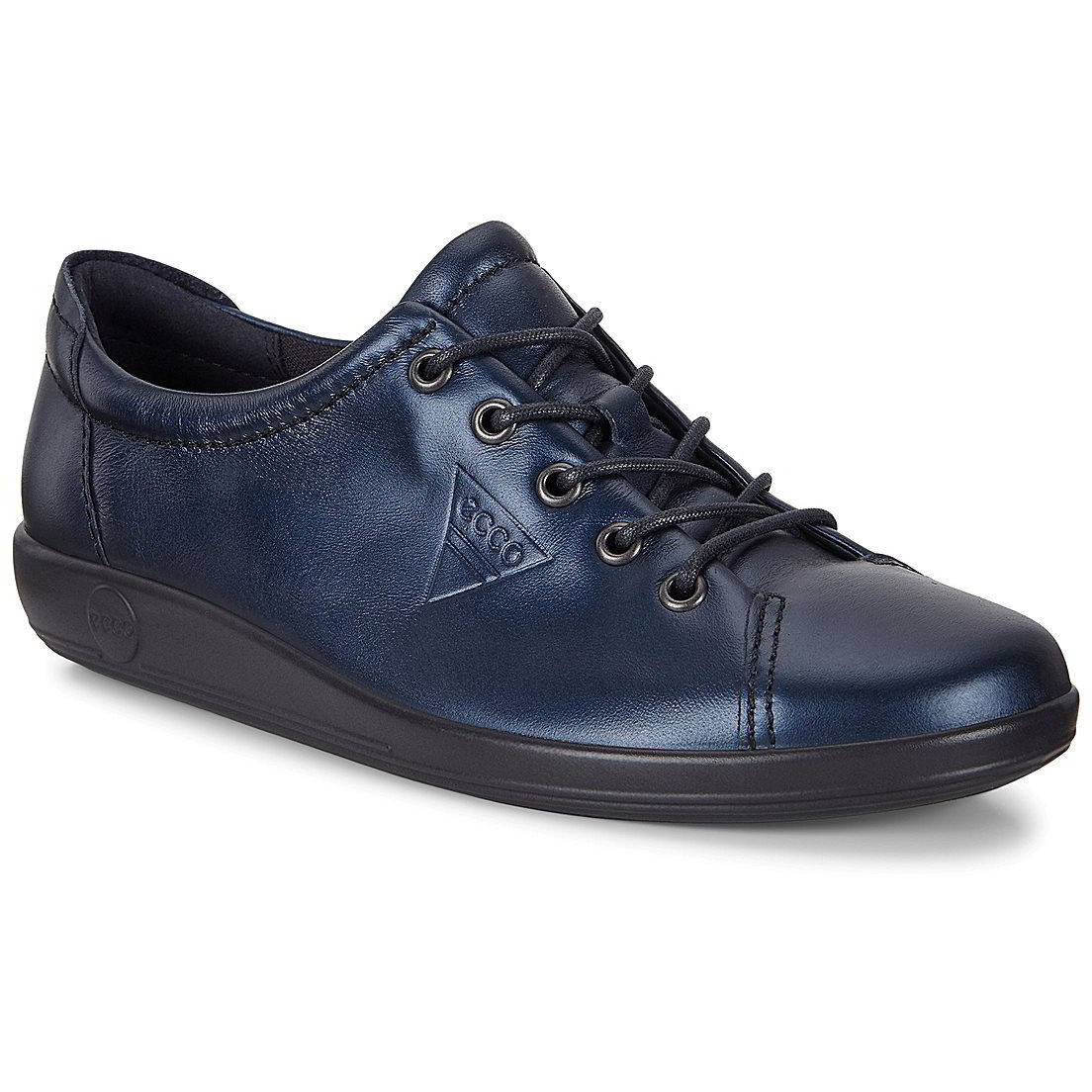 Ecco Shoes Womens Soft 2.0 Leather Shoes - Night Sky