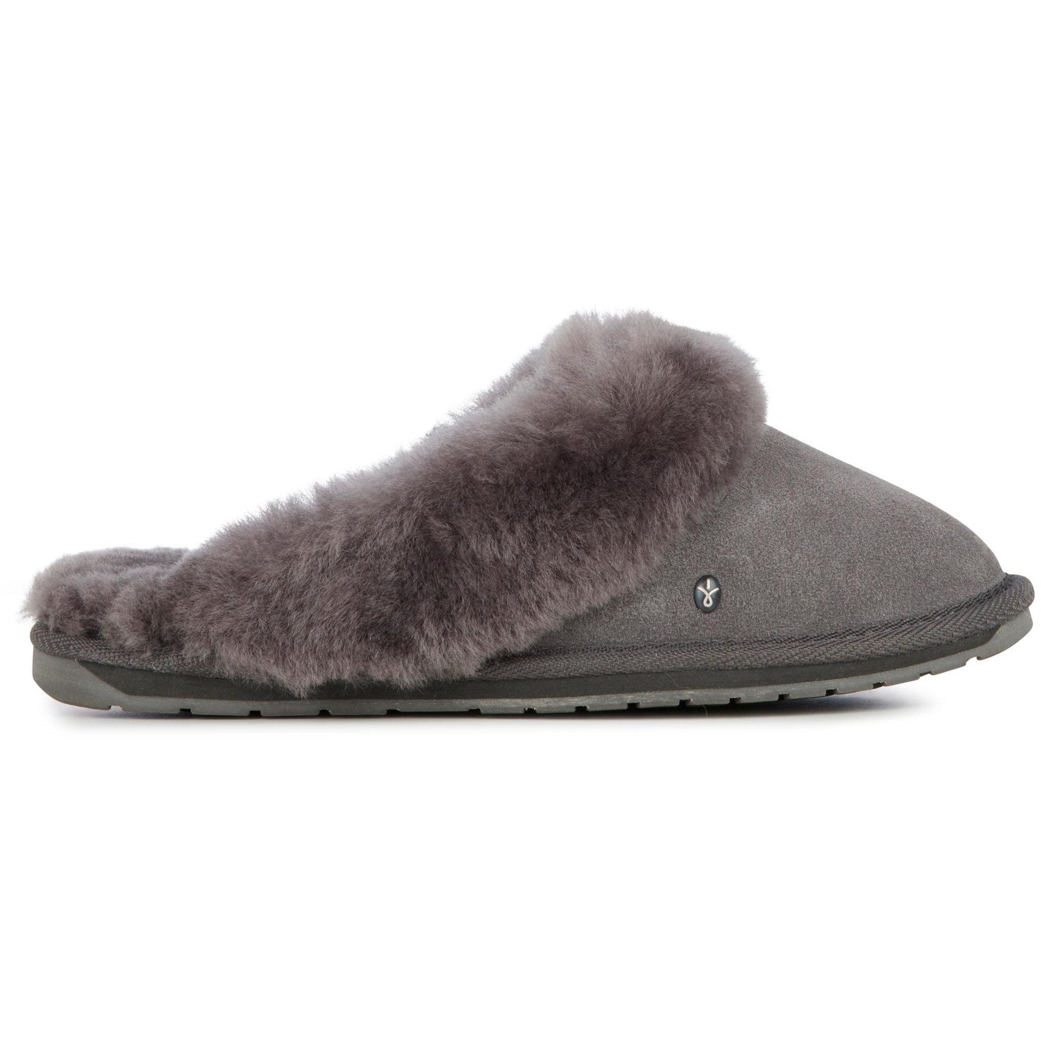 EMU Australia Womens Jolie Sheepskin Slippers - Charcoal