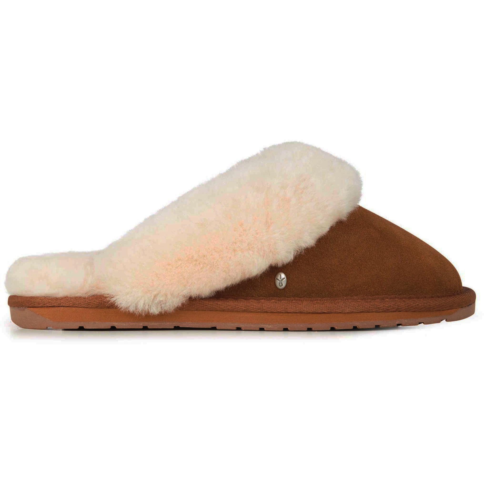 EMU Australia Womens Jolie Sheepskin Slippers - Chestnut