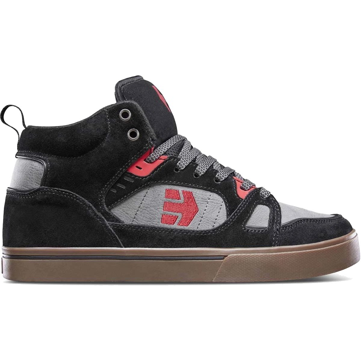 Etnies Mens Agron Trainers - Black Grey Red