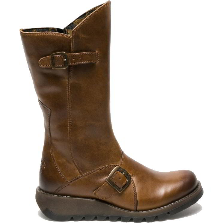 Fly London Womens Mes 2 Wedge Zip Up Boots - Camel
