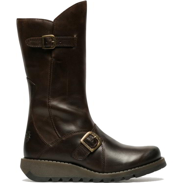 Fly London Womens Mes 2 Wedge Zip Up Boots - Dark Brown