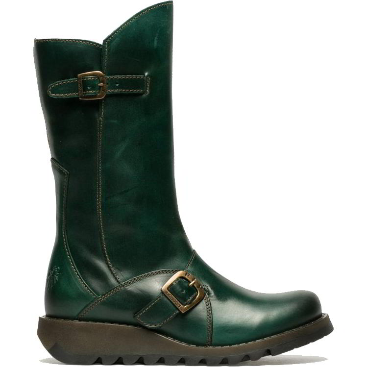 Fly London Womens Mes 2 Wedge Zip Up Boots - Petrol