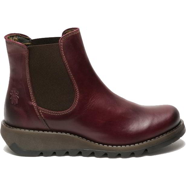 Fly London Salv Womens Leather Wedge Chelsea Ankle Boots - Purple