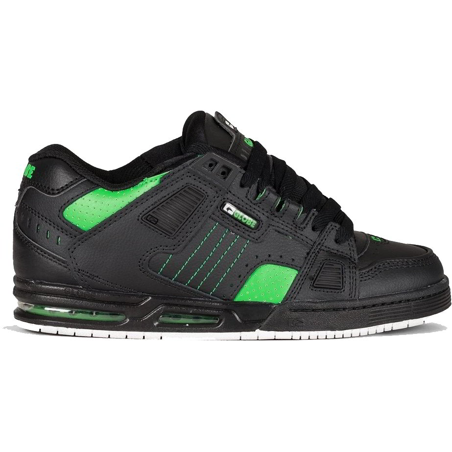 Globe Mens Sabre Skate Shoes - Black Moto Green