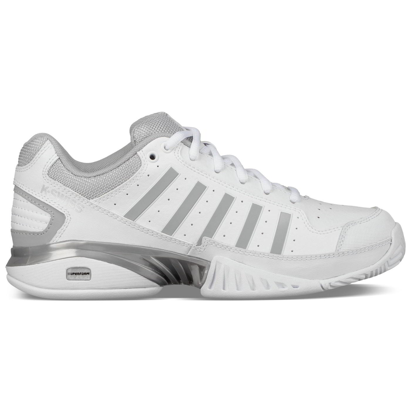 K-Swiss Womens Receiver IV Tennis Shoes Trainers - White High Rise