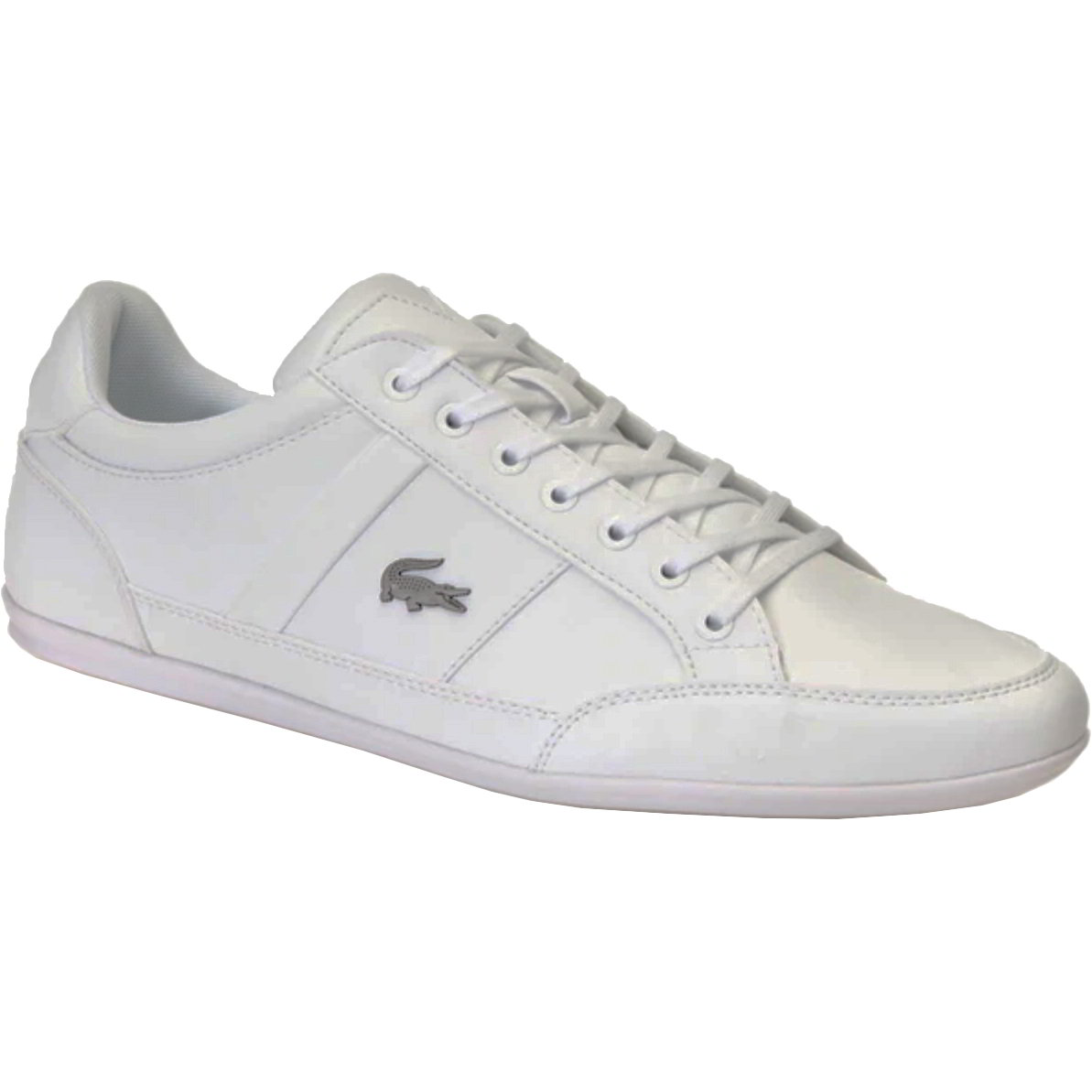 Lacoste Mens Chaymon Leather Trainers Shoes - White White