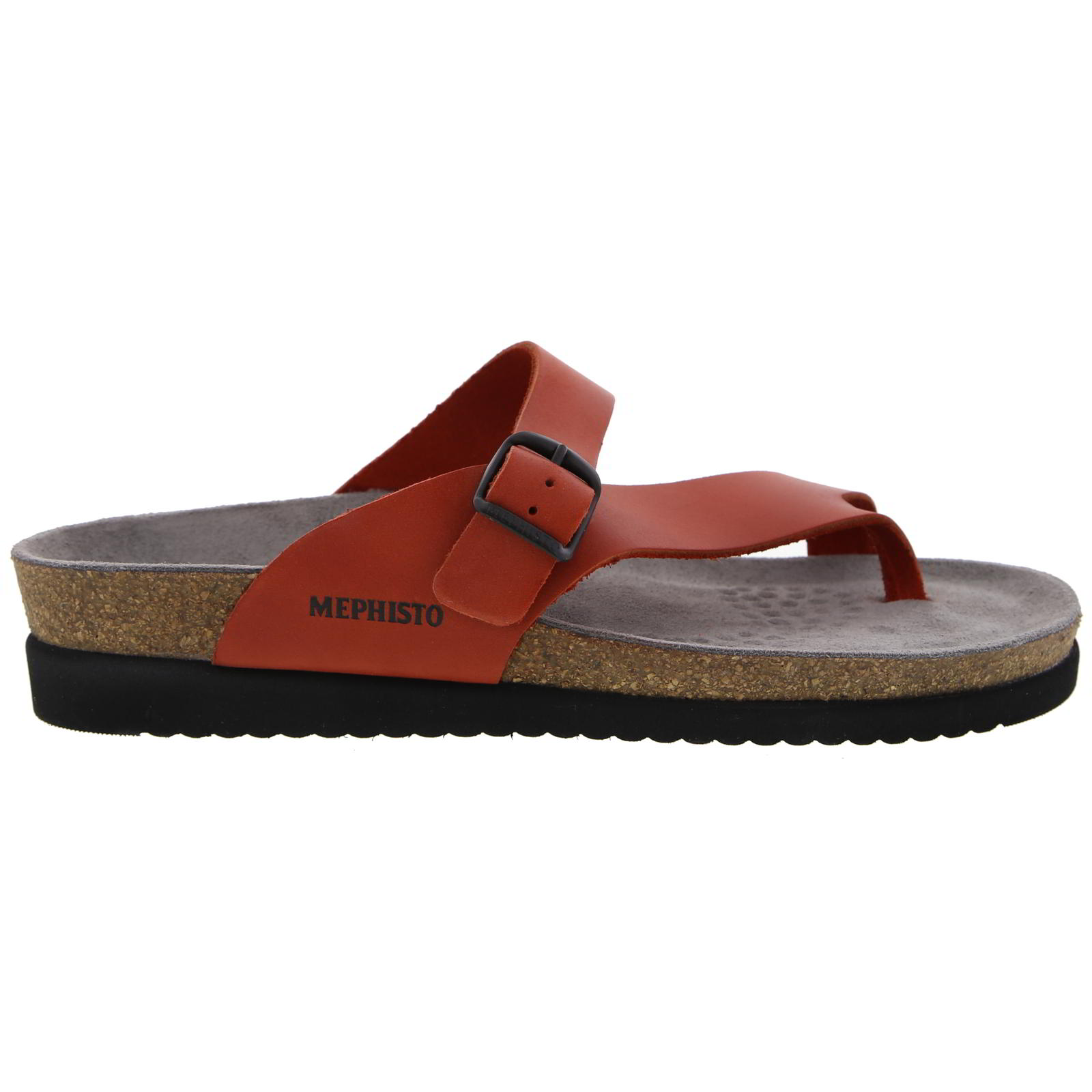 Mephisto Womens Helen Toe Post Sandals - Red