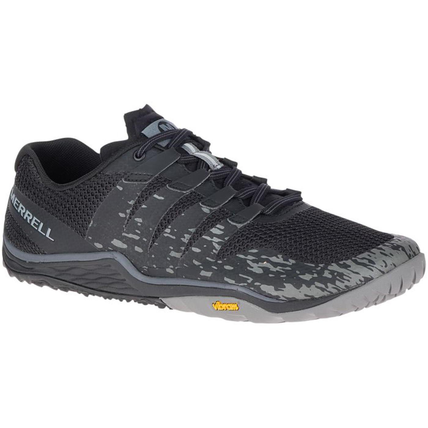 Merrell Mens Trail Glove 5 Vegan Barefoot Walking Running Shoes - Black