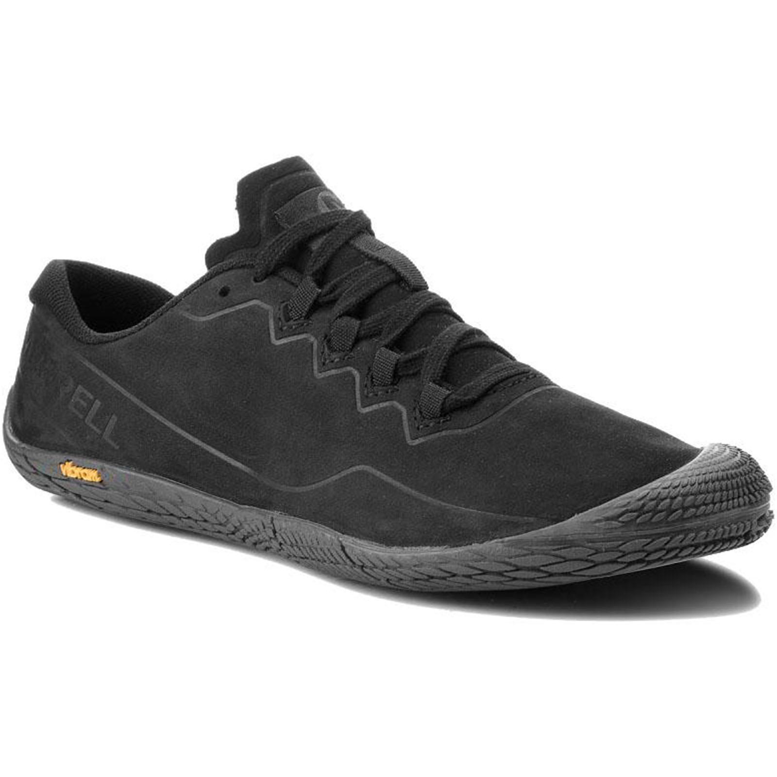 Merrell Mens Vapor Glove 3 Luna Ltr Leather Barefoot Shoes - Black