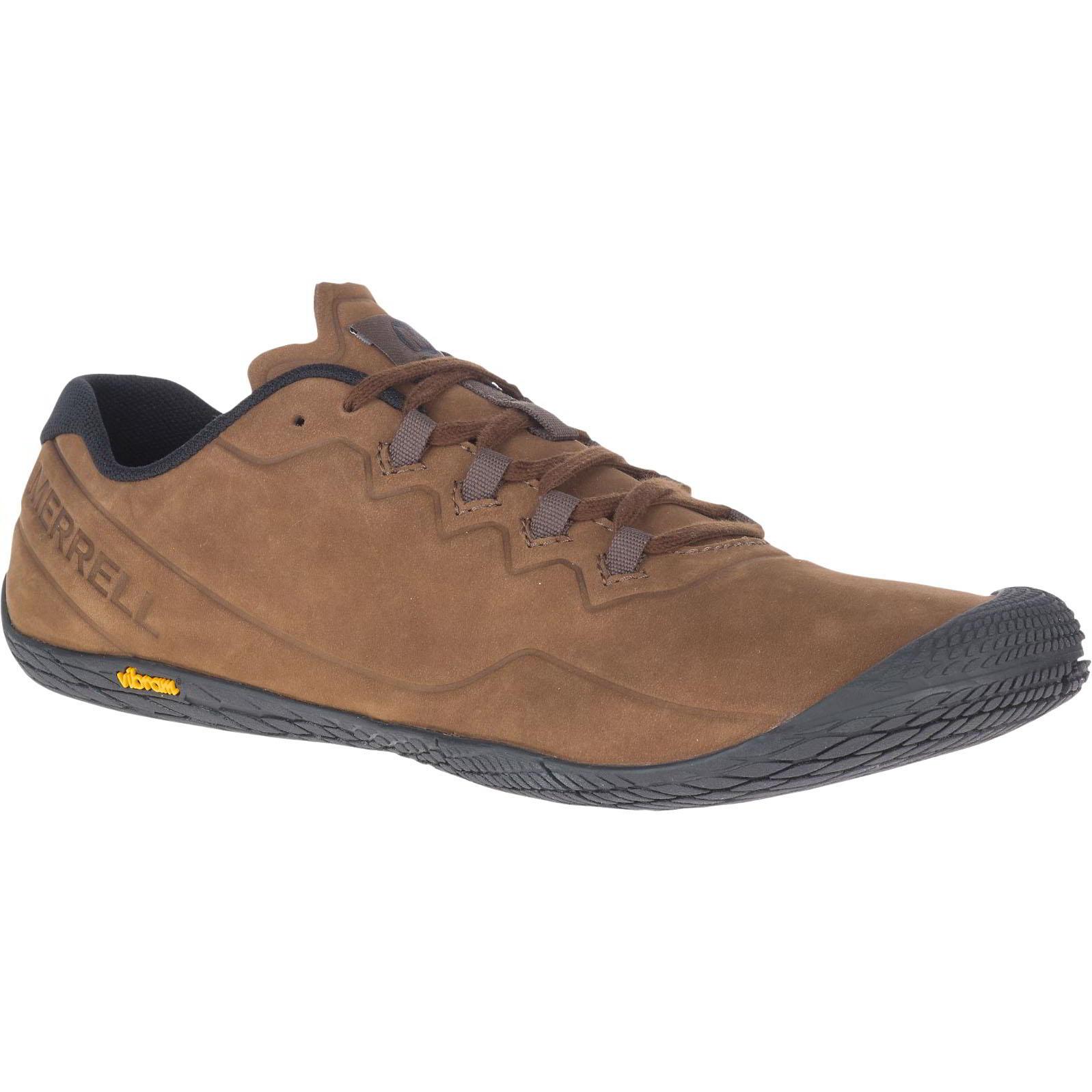 Merrell Mens Vapor Glove 3 Luna Ltr Leather Barefoot Shoes - Earth