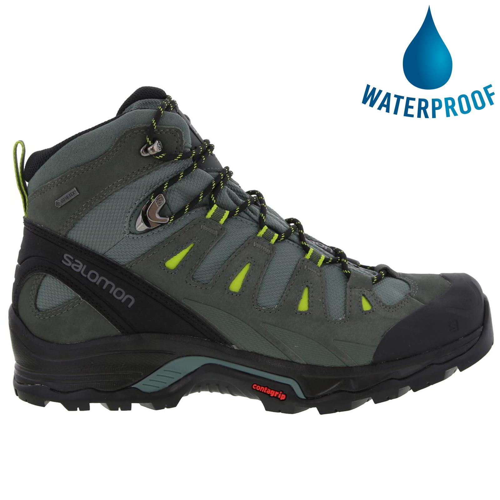 Salomon Mens Quest Prime GTX Waterproof Walking Hiking Boots - Balsam Green