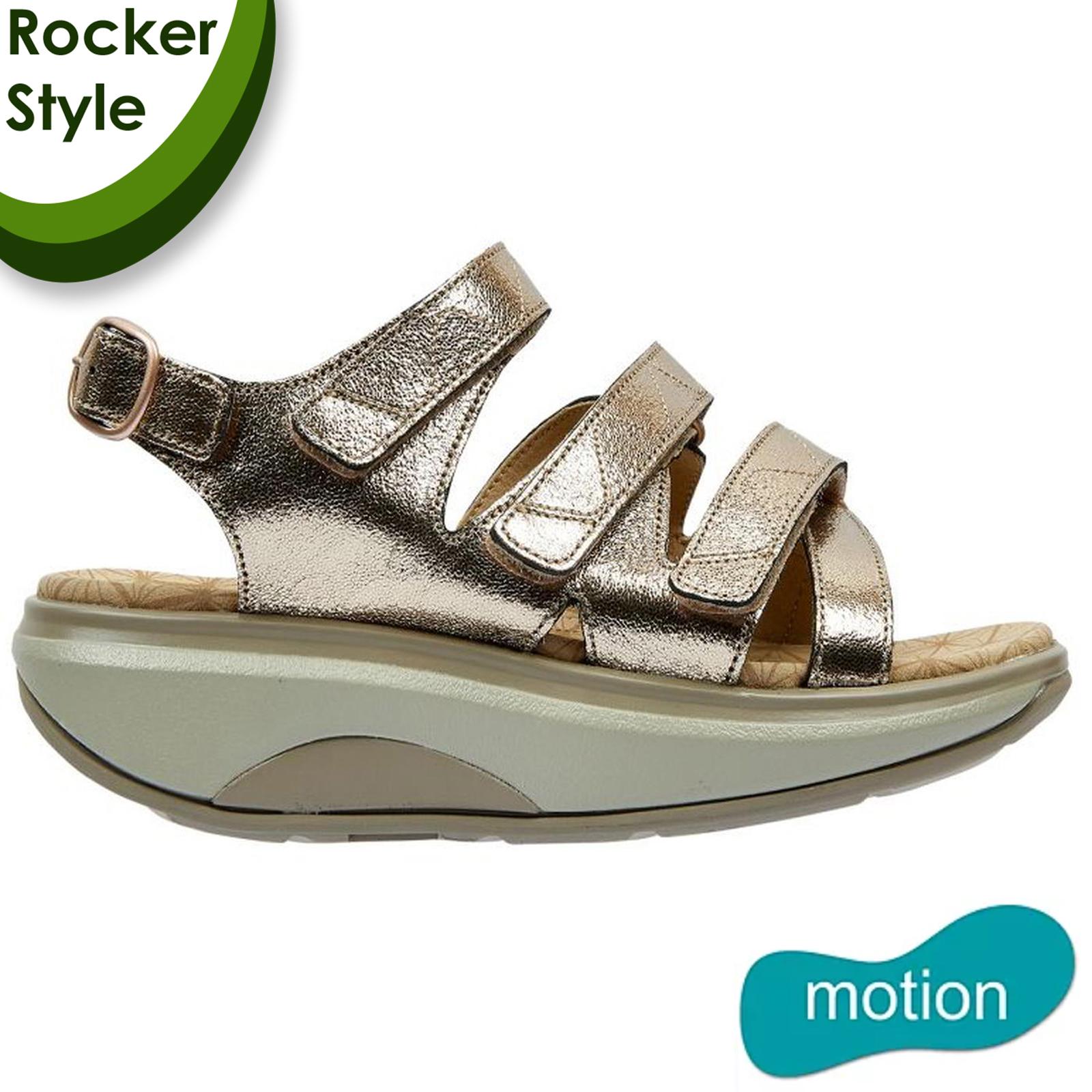 Joya Womens Kyoto Leather Sandals - Gold