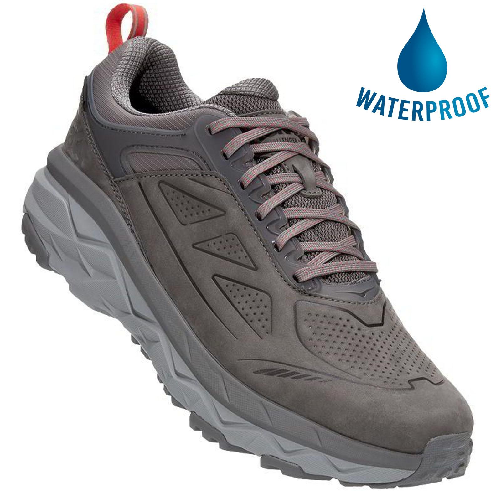 Hoka One One Mens Challenger Low GTX Waterproof Trail Running Shoes - Charcoal Grey Fiesta