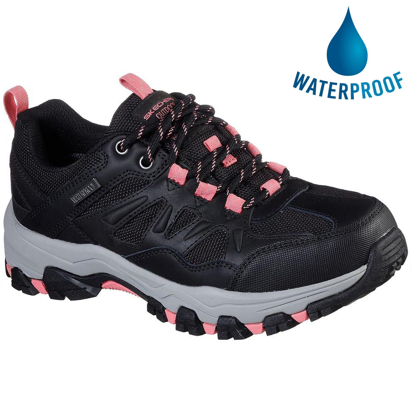 Skechers Womens Selmen West Highland Waterproof Trainer - Black Charcoal