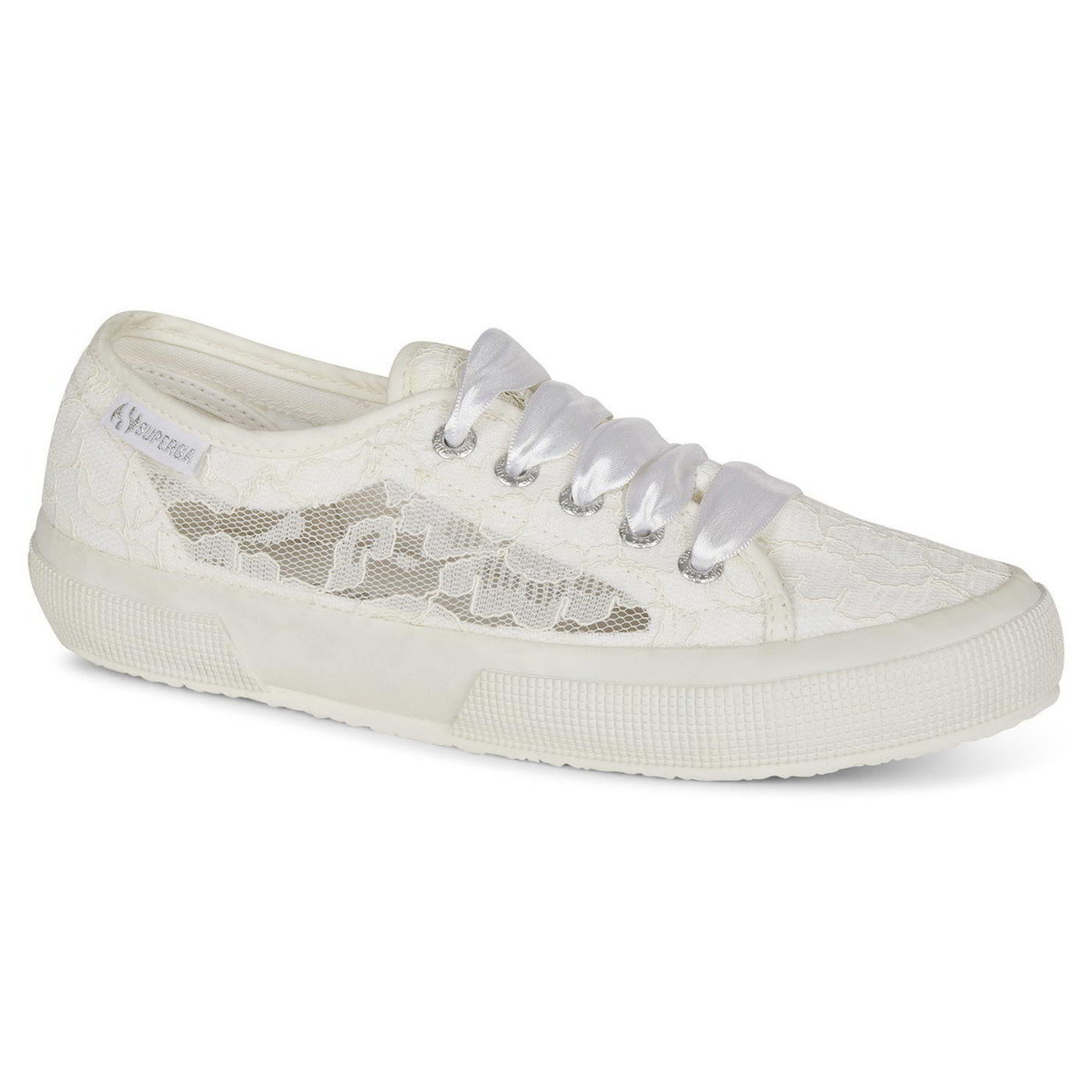 Superga Womens 2750 New Lace Trainers Shoes - White