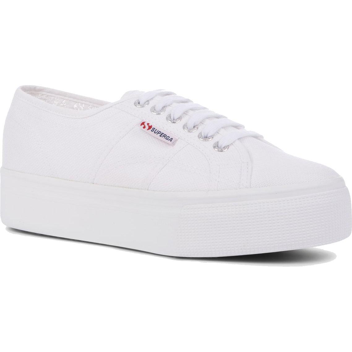 Superga Womens 2790 Linea Chunky Platform Trainers Shoes - White