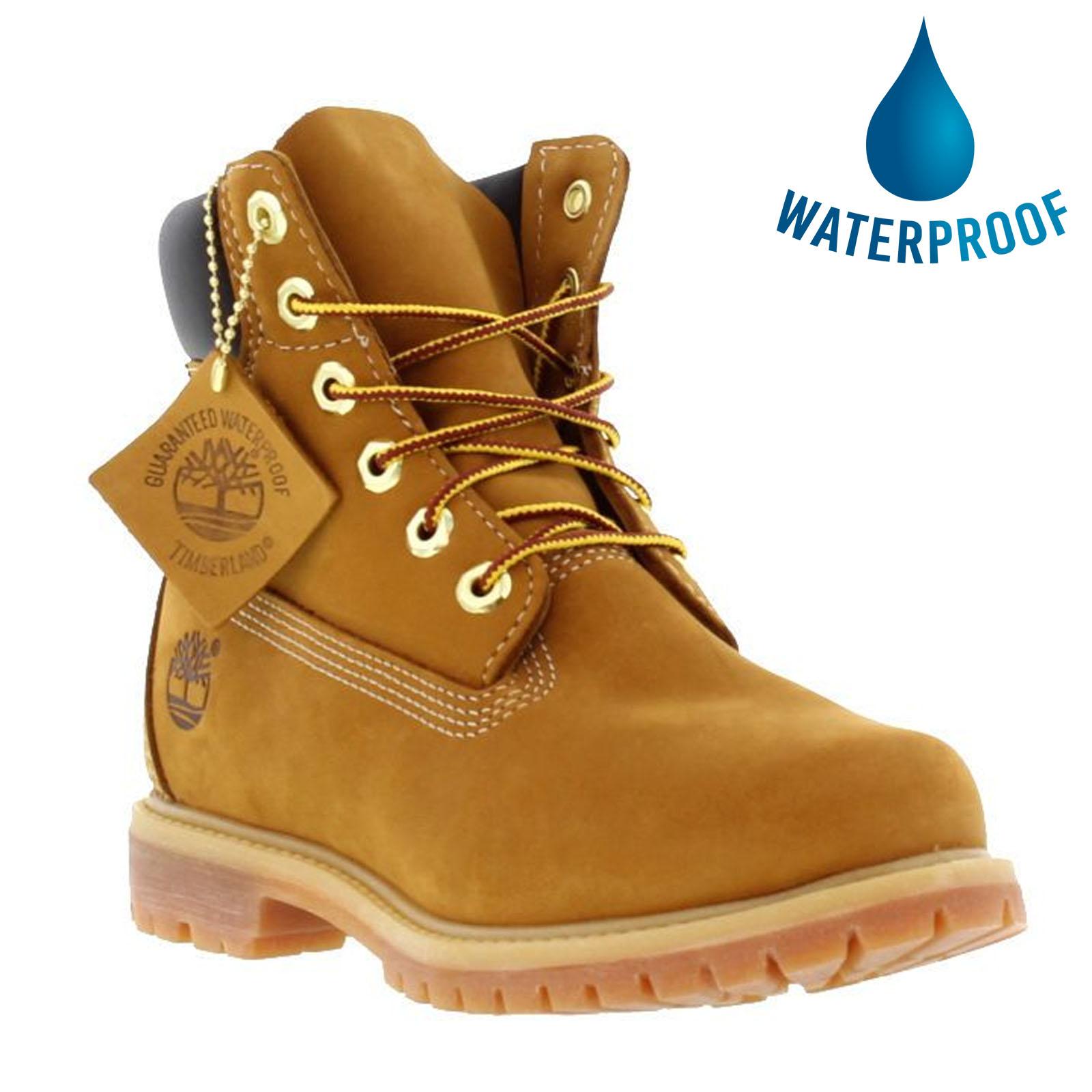 Timberland Womens 6 Inch Premium Waterproof Boots - 10361 - Wheat