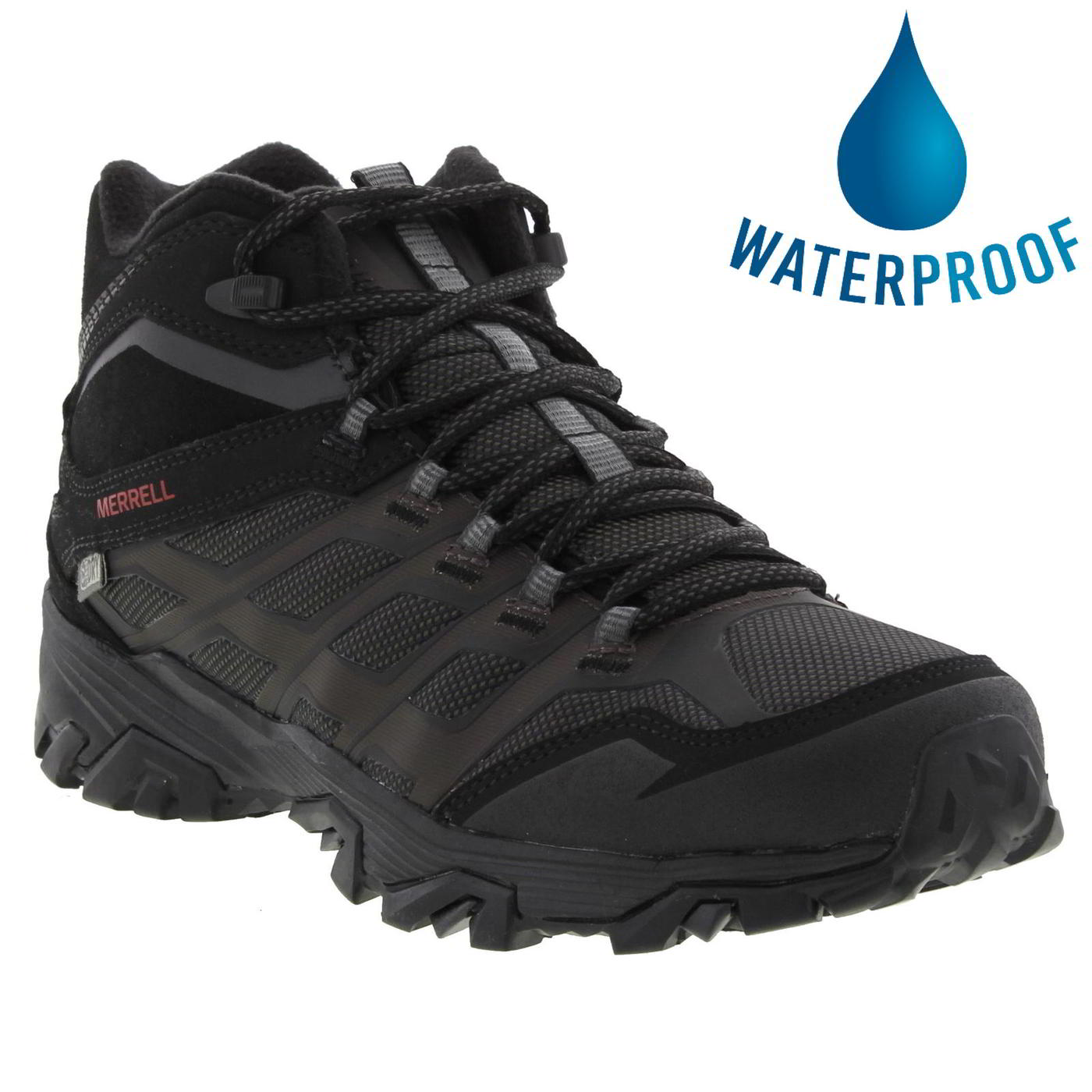 Merrell Mens Moab FST Ice Thermo Waterproof Walking Snow Boots