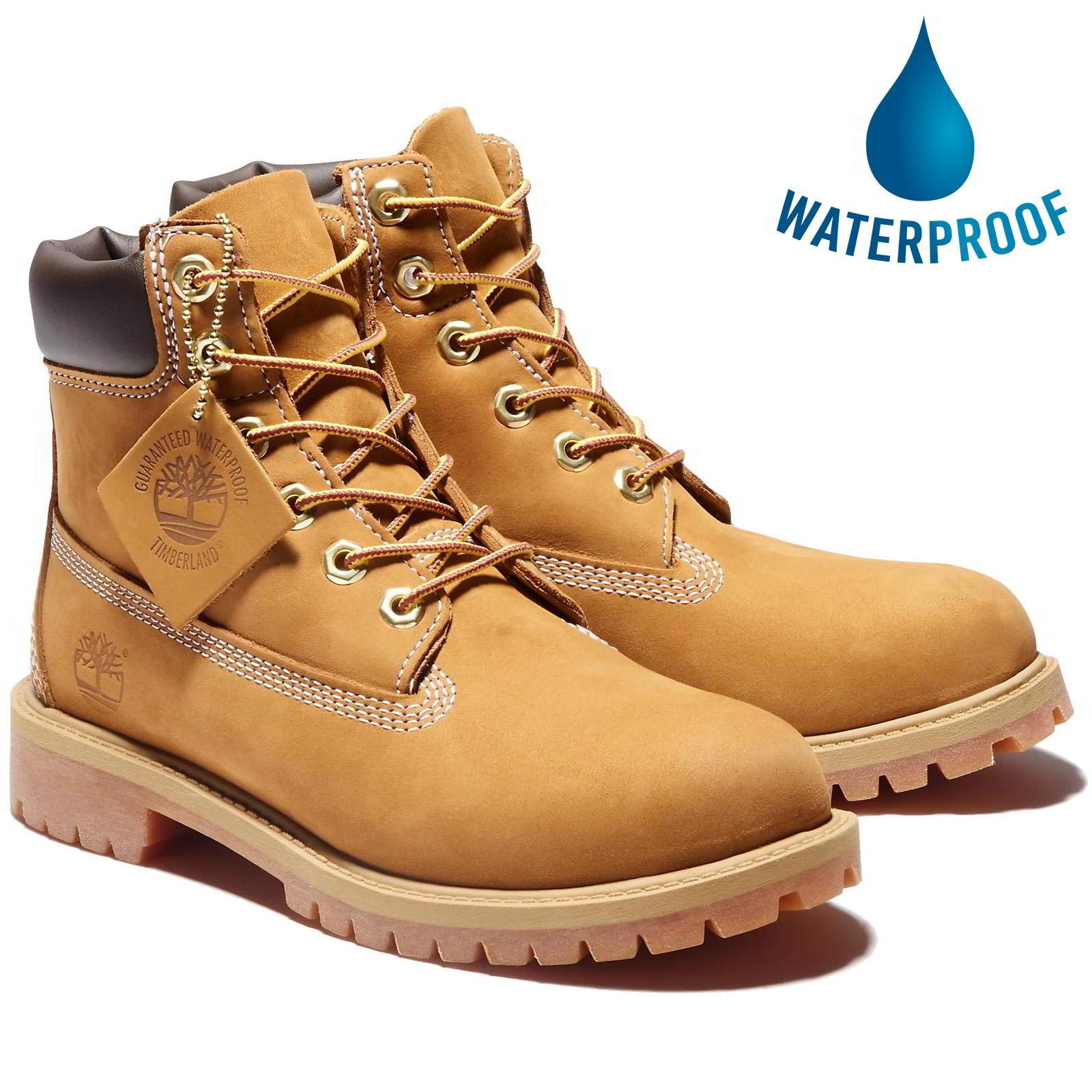 Timberland Junior 6 Inch Premium Waterproof Boots - 12909 - Wheat Yellow